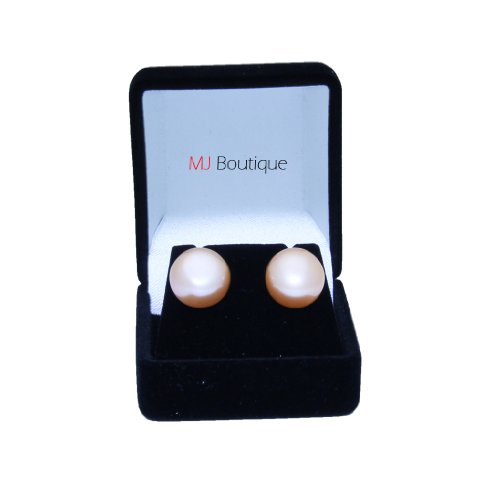 10mm-12mm-peach-freshwater-cultured-pearl-earrings-stud-gift-for-her