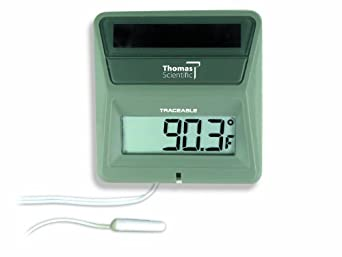 Thomas Traceable Solar Powered Thermometer, 0 to 160 degree F, -20 to 70 degree C