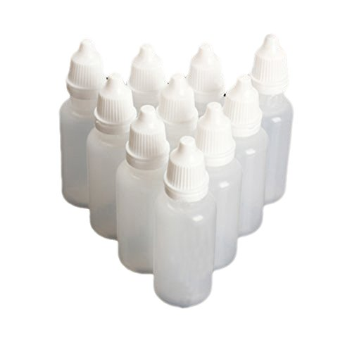 Mersuii Empty 5Ml 50 Pcs Plastic Dropper Bottles, Great For Solvents, Light Oils, Paint, Essence, Electronic Cigarettes, Eye Drops, Saline, Etc.