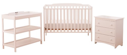 Stork Craft Turin Nursery In a Box, White
