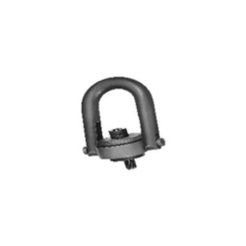 Jergens 23474 Black Oxide Alloy Steel Center Pull Standard U-Bar Hoist Ring, M24 x 3.0mm Thread Size, 4200 kg Working Load Limit