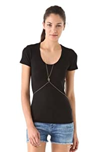 WIIPU Sexy Snake CROSS Body Chain Necklace Bikini Belly Harness Gold Tone Dancer Slave(wiipu-C262)