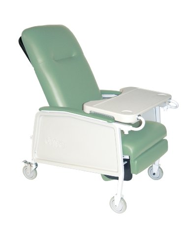 Drive Medical 3 Position Heavy Duty Bariatric Geri Chair Recliner, Jade front-843762