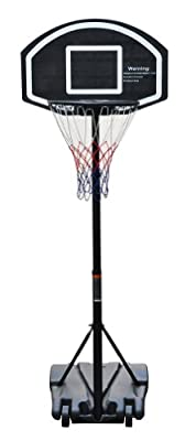 Blue Ridge Sports Starter Portable Basketball Hoop - 9 Height Settings from 55-87 Inches with Base