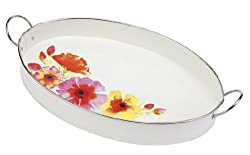 C.R. Gibson Metal Oval Serving Tray, Marrakech