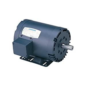 Leeson Reversible Electric Motor With Manual Overload