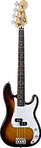 Fender Standard Precision Electric Bass Guitar, Rosewood Fingerboard, 3-Ply Parchment Pickguard - Brown Sunburst