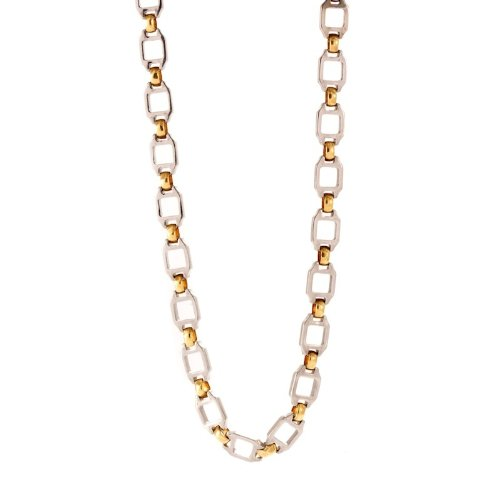 Cartier 18k Yellow Gold & Stainless Steel Necklace