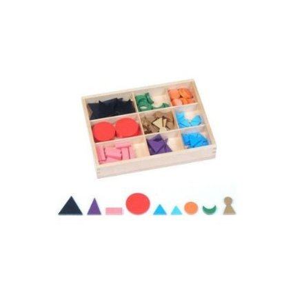 Montessori Basic Wooden Grammar Symbols with Box