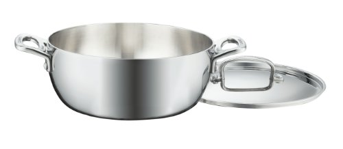 Cuisinart FCT3545-24 French Classic Tri-Ply Stainless 4-1/2-Quart Dutch Oven with Cover