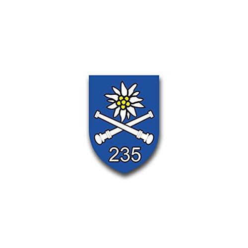 Aufkleber / Sticker - GebArtBtl 235 Gebirgsartilleriebataillon Bad Reichenhall Bundeswehr Wappen Abzeichen Emblem passend für Opel Astra Audi A6 VW Passat (7x5cm)#A1329