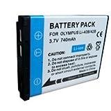 Premium Range - Replacement rechargeable camera battery LI40b Li-40b LI-42b Li42b for OLYMPUSby BadBoyz