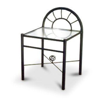 Discount Black Metal Nightstand Glass End Table With Sunburst Arch Store