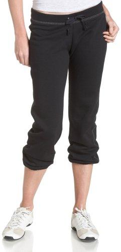 Soffe Juniors' Fleece Roll Up Capri, Black, X-Large