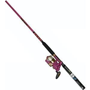Master Fishing Tackle RLP30/RHP60 Medium Lite Combo, 2 Piece (6-Feet, Pink) by Master Fishing Tackle