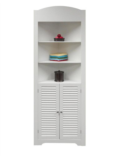 Big Save! Ellsworth Tall Corner Etagere  - White