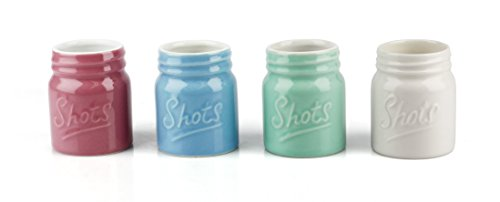 2.5 Ounce Ceramic Mason Jar Shot Glass