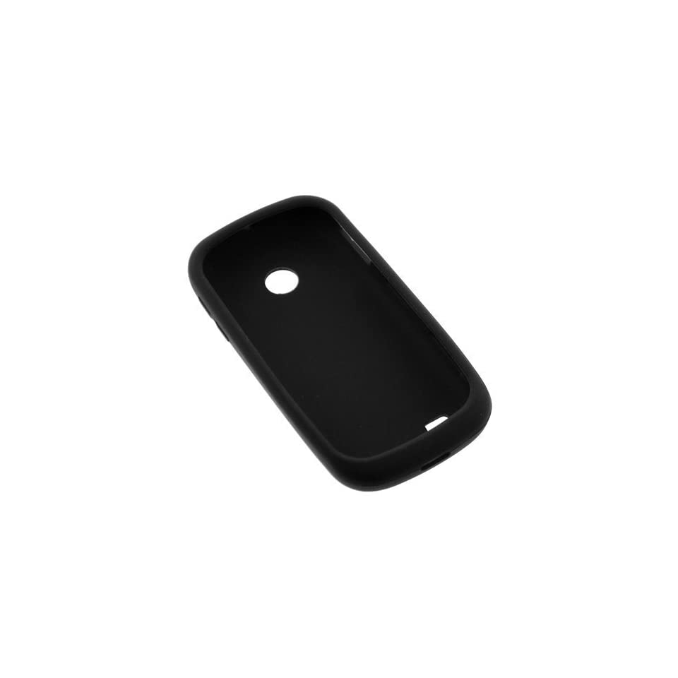 GTMax Black Soft Rubber Silicone Skin Protector Cover Case for AT and T Samsung Eternity II SGH A597 GSM Cell Phone
