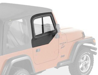 Bestop 51787-15 Black Denim Upper Door Slider Set For 97-06 Wrangler Tj