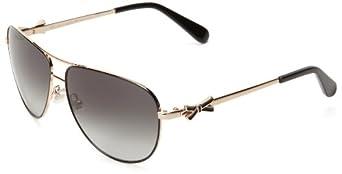 Kate Spade Circes Aviator Sunglasses,Black,59 mm