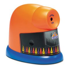 ** Crayonpro Electric Crayon Sharpener With Replacable Blade, Orange