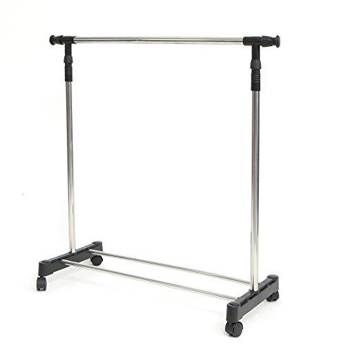 Mind Reader GARMRACK-SIL Extend ' Stainless steel Adjustable Garment Rack, Chrome Finish, Silver