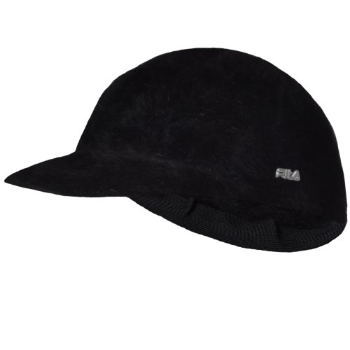 77e40ee11e5 Fila Vintage Womens Winter Furry Hat Cap OSFA - Black - AX00044 ...