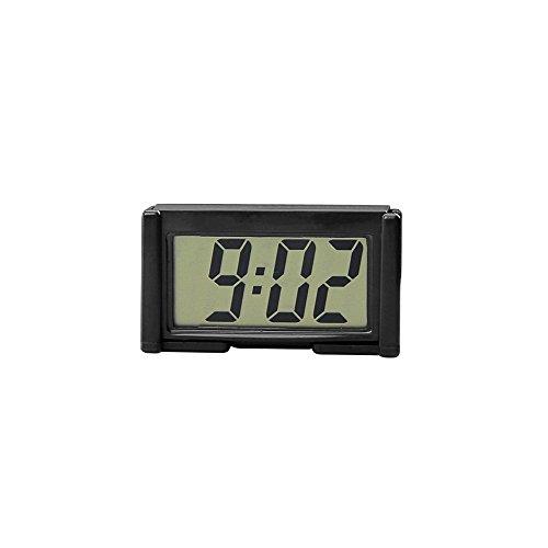 Interior Auto Car Dashboard Desk Digital Clock LCD Screen Self-Adhesive Bracket (black) (Automotive Clock compare prices)