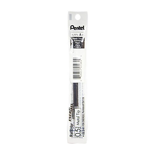 Pentel LRP5 0.5mm EnerGel Permaanent Gel Pen Refill - Black Ink