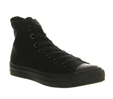 Converse All Star Hi Black Mono Canvas High Top Trainers