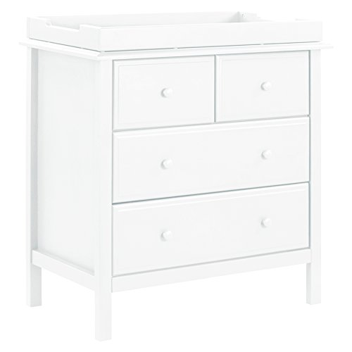 DaVinci Autumn 4 Drawer Dresser, White