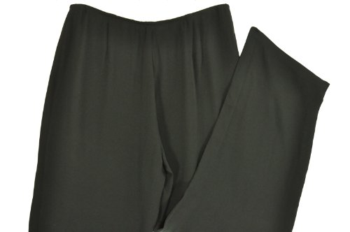 Eileen Fisher Luxe Trouser Black Large