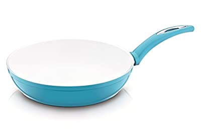 Nouval FY109-26C-T 10-Inch Non-Stick Ceramic Coated Frying Pan, Turquoise