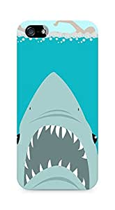 Amez designer printed 3d premium high quality back case cover for Apple iPhone 5s (Sharkweek)