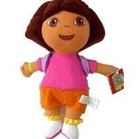 "Dora The Explorer Plush Toy - 11"" Dora Medium Size Stuffed Animal wearing Mr Backpack - 1"