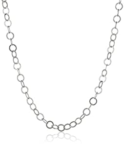 """Sterling Silver Flat Circle-Link Chain Necklace, 18"""""""