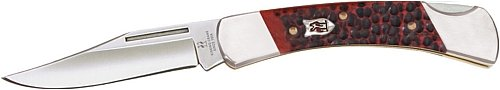 Kissing Crane Knives 6116Rd Lockback Pocket Knife With Red Jigged Bone Handles