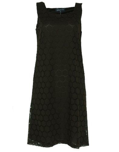 Jones New York Crochet Sleeveless Dress Root Beer L