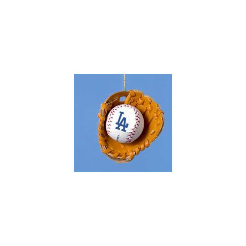 Los Angeles Dodgers Ball and Glove Christmas Ornament at Amazon.com
