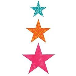 AccuQuilt GO! Fabric Cutting Dies; Star 2-inch; 3-inch & 4-inch