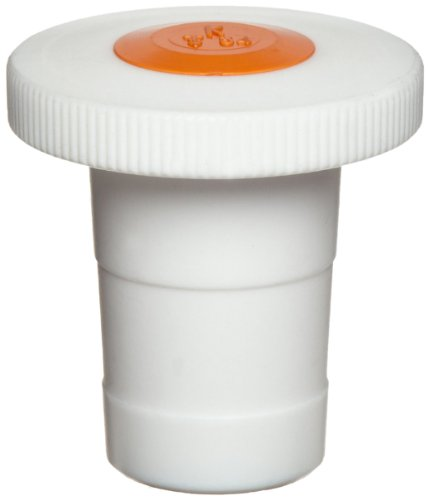 Kimax 41941R-29 Green Ptfe Color-Coded Flathead Bottle And Apparatus Style Stopper, 29 Size (Case Of 6) front-137183