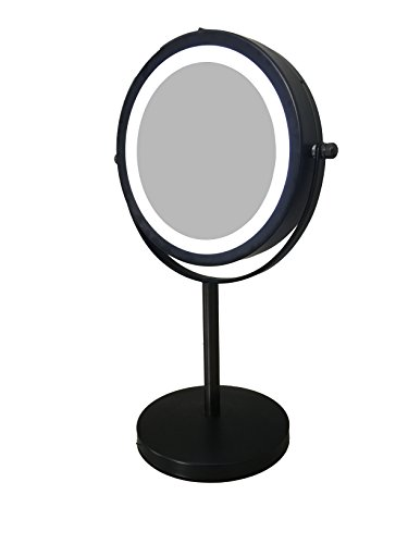 aqua-elegante-6-inch-led-makeup-mirror-double-sided-lighted-10x-1x-magnification-oil-rubbed-bronze