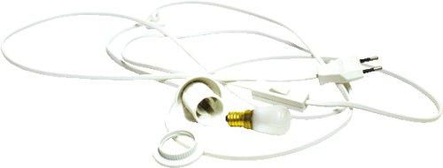kabel mit fassung schalter und gl hbirne 15 watt f r holz. Black Bedroom Furniture Sets. Home Design Ideas