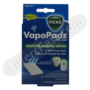 Vicks VVP-6 Vaporizer Scent Pad 5-Pack w/ 1 Bonus