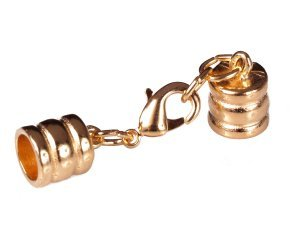 """6Mm (1/4"""") Gold Glu-N-Go End Caps, Jewelry Findings-Clasps"""