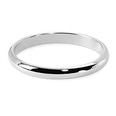 Helios Bijoux Men's Wedding Ring 2.5 mm White Gold 18 Carats, 69 cm new certificate of Authenticity-Made in France