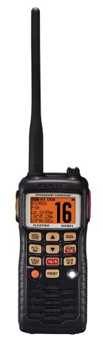 Best Prices! Standard Horizon HX851 6W Floating Handheld VHF Radio with Glow in the Dark