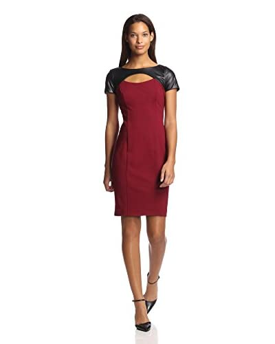 Nue by Shani Women's Cutout Dress with Faux Leather