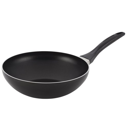 Farberware Dishwasher Safe Aluminum Nonstick Stir Fry, 10.5-Inch, Black