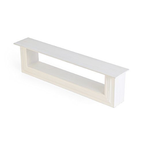 Melannco Two Layer Shelf White 24 Inch Home Garden Decor